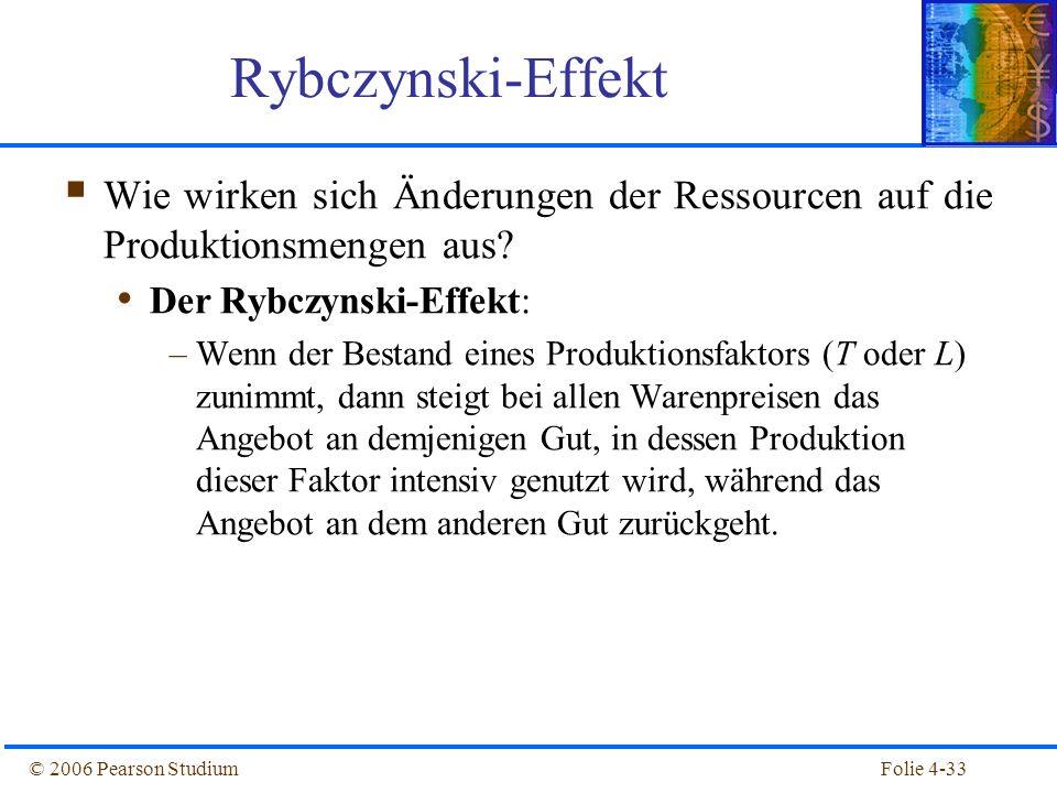 Rybczynski-Effekt Wie wirken sich Änderungen der Ressourcen auf die Produktionsmengen aus Der Rybczynski-Effekt: