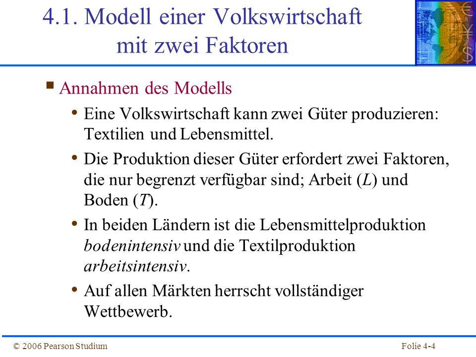 4.1. Modell einer Volkswirtschaft mit zwei Faktoren
