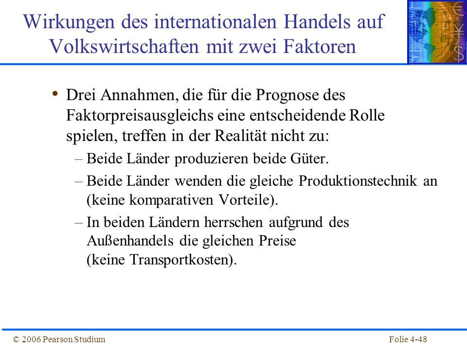 Wirkungen des internationalen Handels auf Volkswirtschaften mit zwei Faktoren