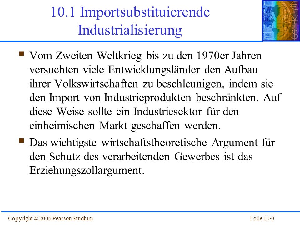 10.1 Importsubstituierende Industrialisierung