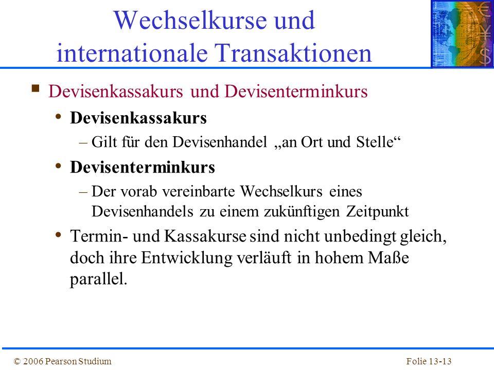 Wechselkurse und internationale Transaktionen