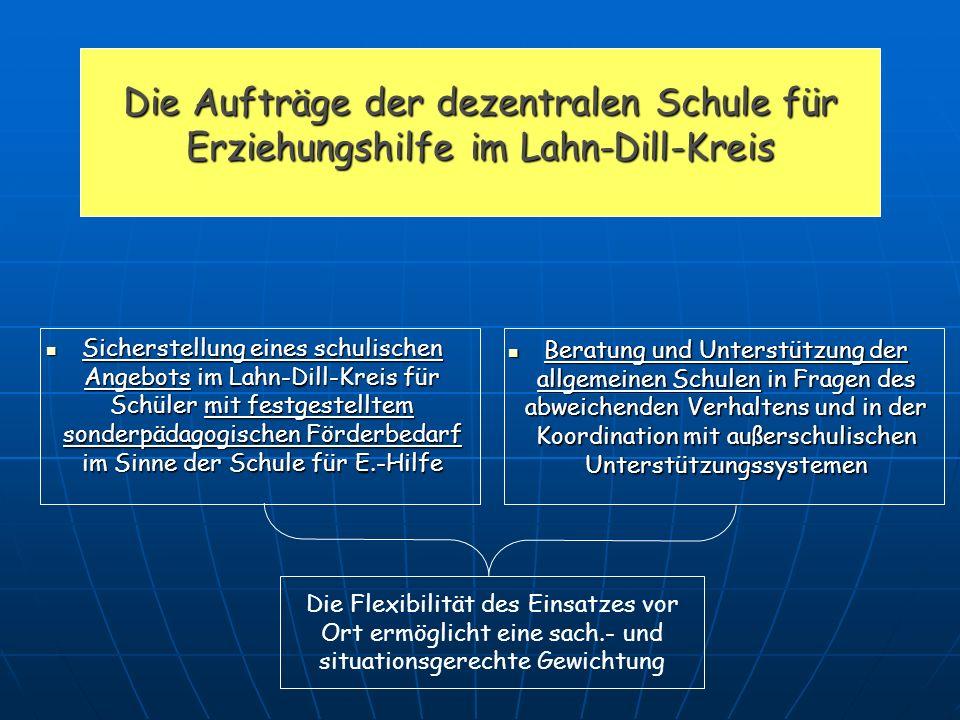 Die Aufträge der dezentralen Schule für Erziehungshilfe im Lahn-Dill-Kreis
