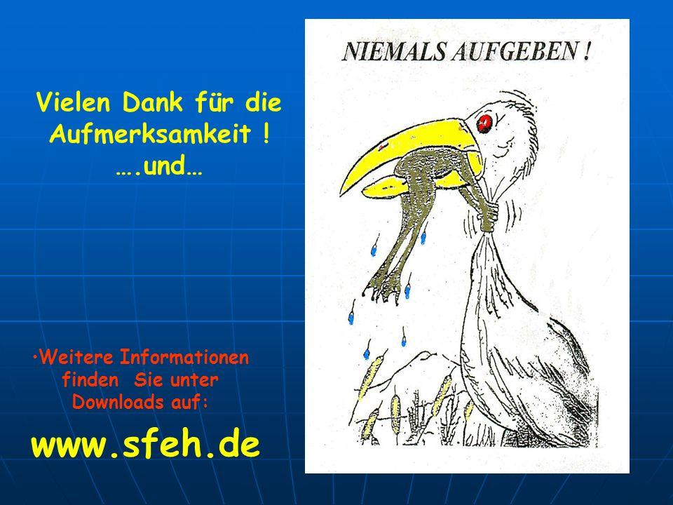 www.sfeh.de Vielen Dank für die Aufmerksamkeit ! ….und…