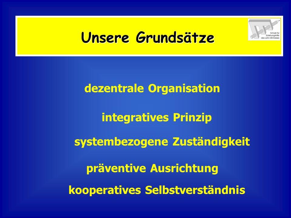 Unsere Grundsätze dezentrale Organisation integratives Prinzip