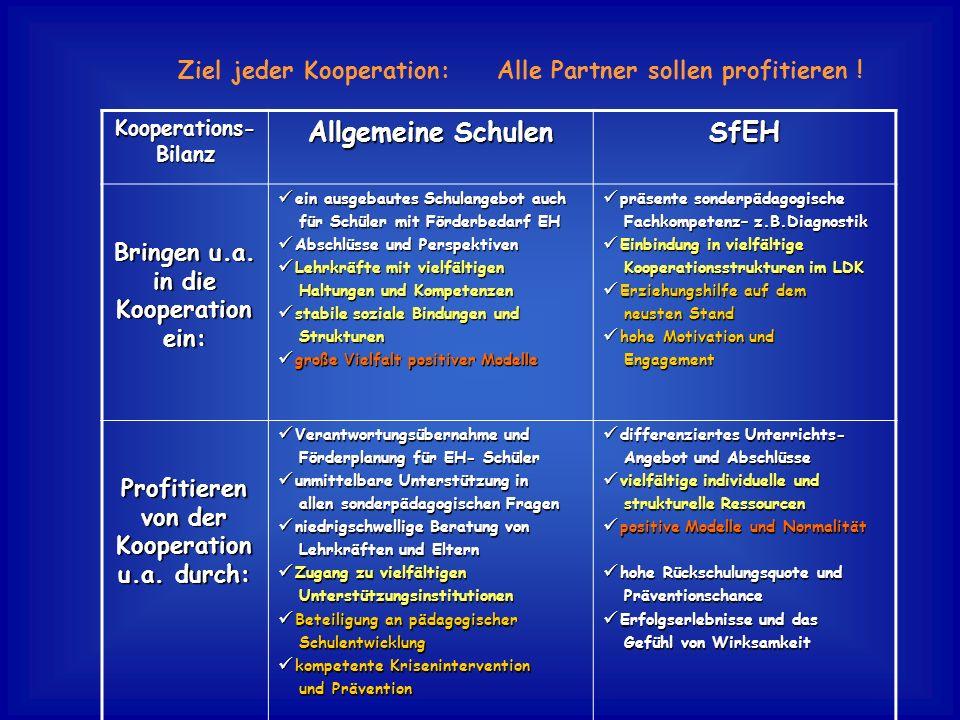 Allgemeine Schulen SfEH