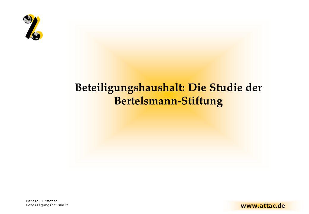Beteiligungshaushalt: Die Studie der Bertelsmann-Stiftung