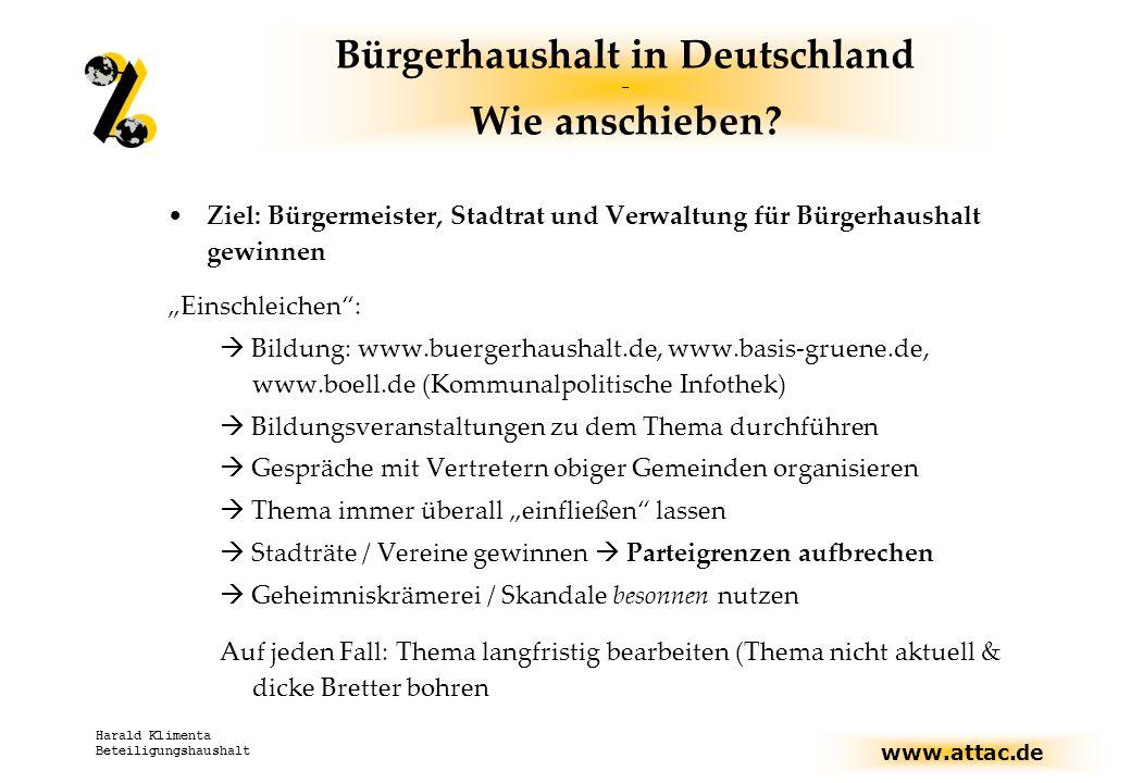 Bürgerhaushalt in Deutschland – Wie anschieben