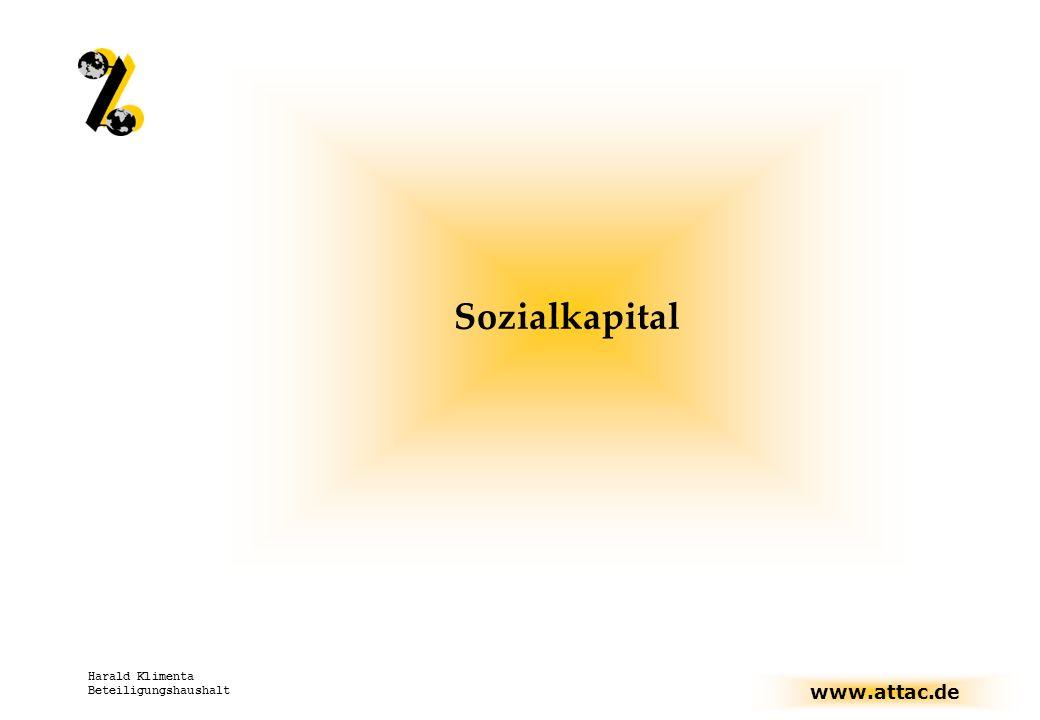 Sozialkapital Harald Klimenta Beteiligungshaushalt