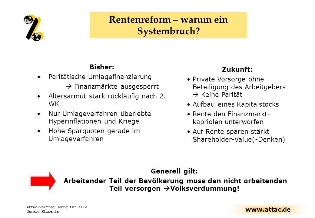 Rentenreform – warum ein Systembruch