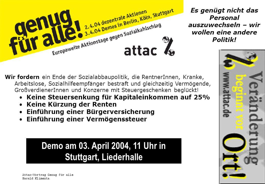 Demo am 03. April 2004, 11 Uhr in Stuttgart, Liederhalle