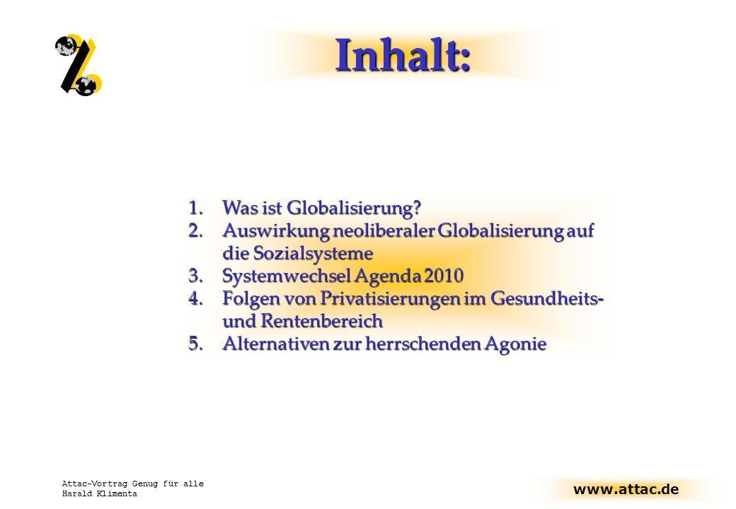 Inhalt: Was ist Globalisierung