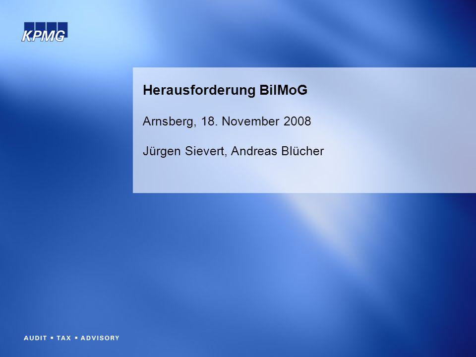 Herausforderung BilMoG Arnsberg, 18