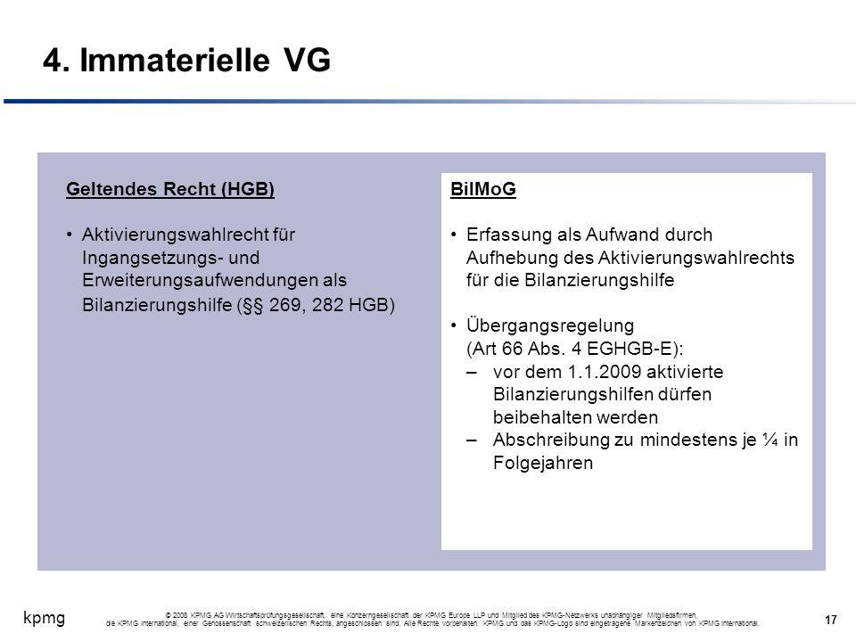 4. Immaterielle VG Geltendes Recht (HGB)