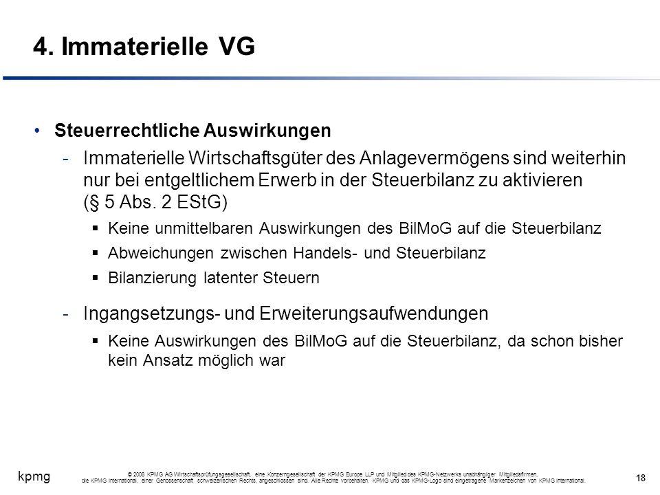 4. Immaterielle VG Steuerrechtliche Auswirkungen