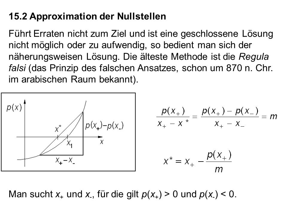 15.2 Approximation der Nullstellen