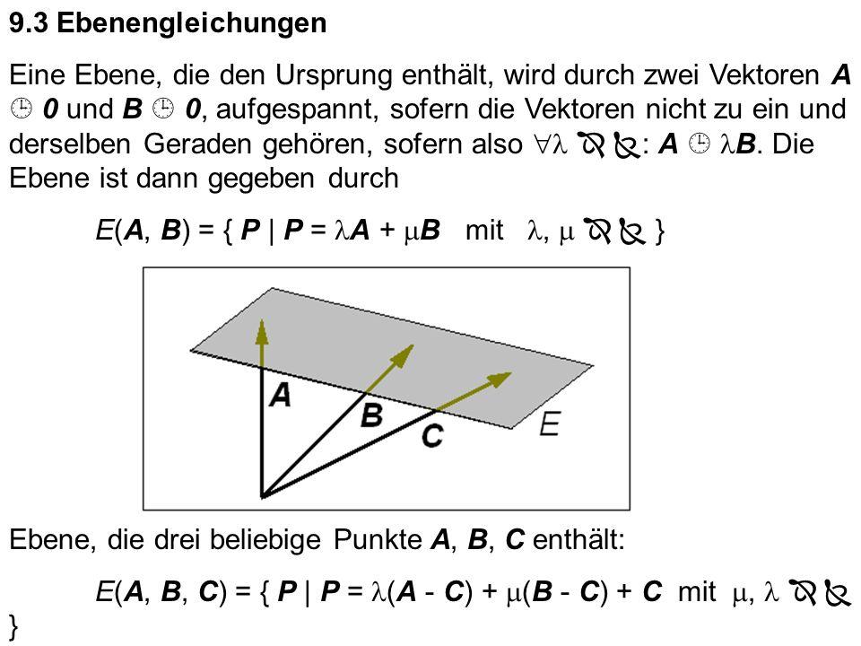 9.3 Ebenengleichungen
