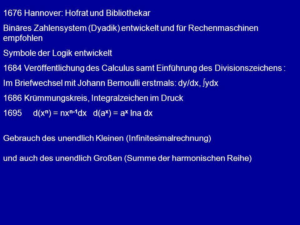1676 Hannover: Hofrat und Bibliothekar