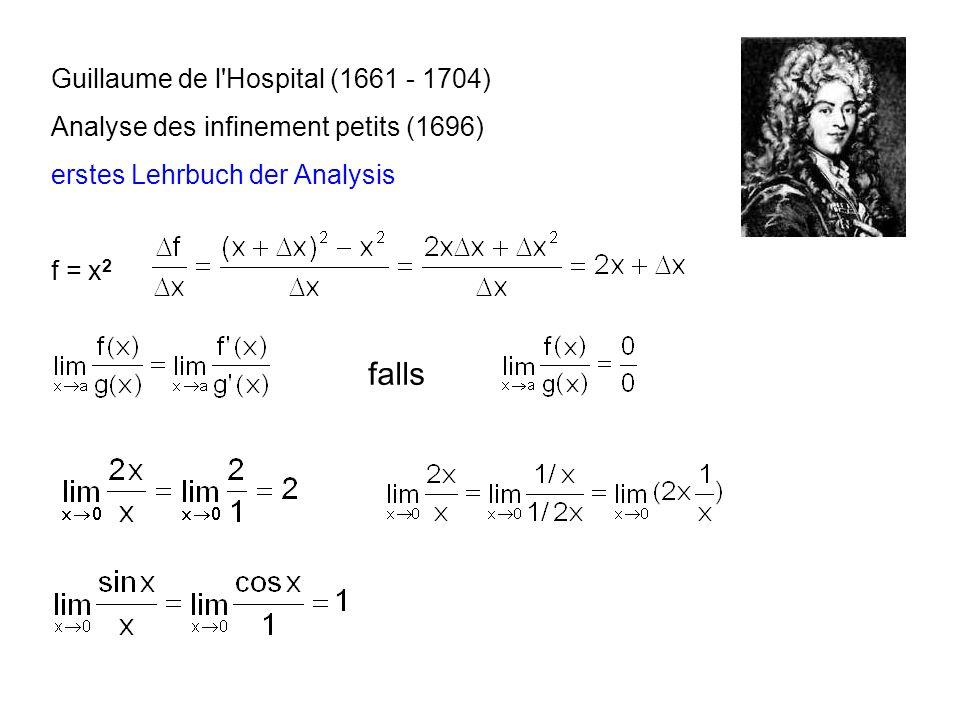 falls Guillaume de l Hospital (1661 - 1704)