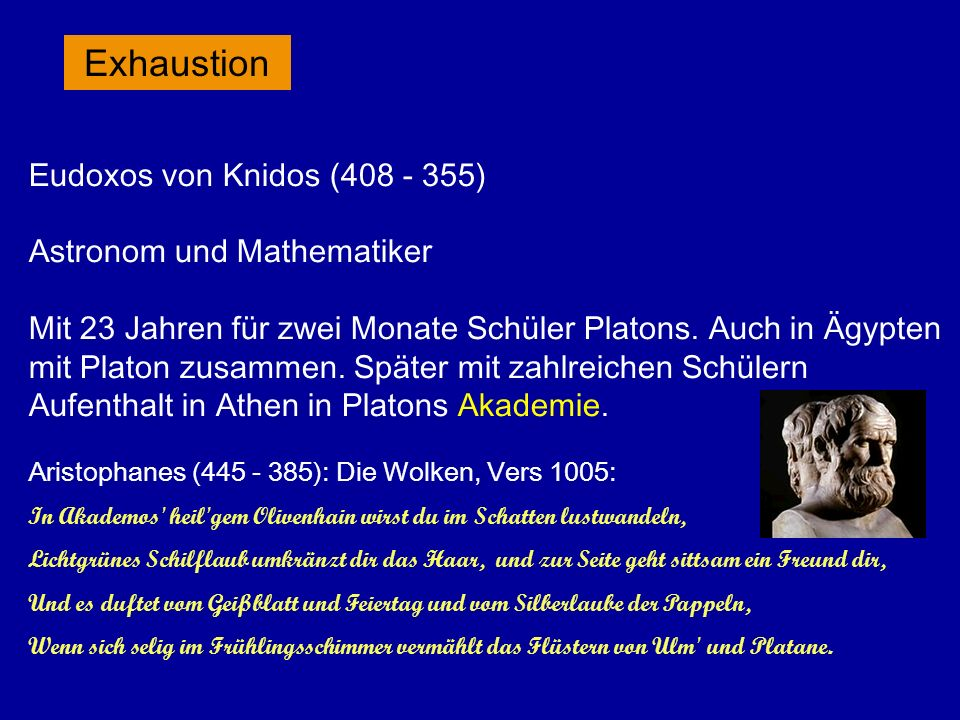 Exhaustion Astronom und Mathematiker