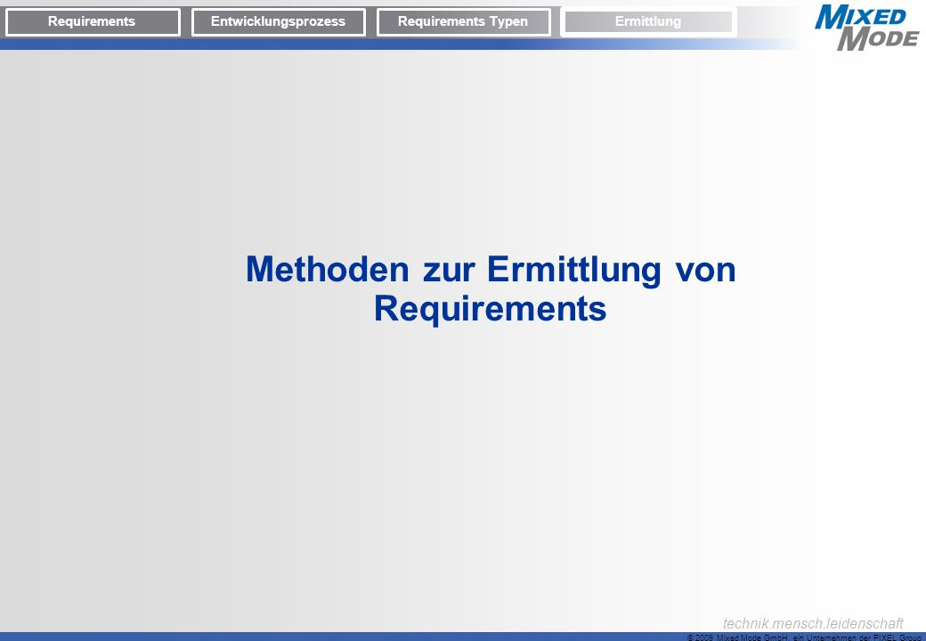 Methoden zur Ermittlung von Requirements