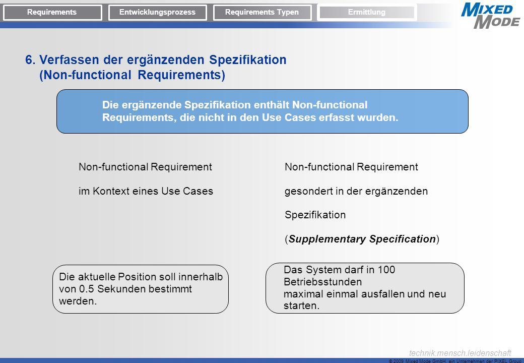 6. Verfassen der ergänzenden Spezifikation