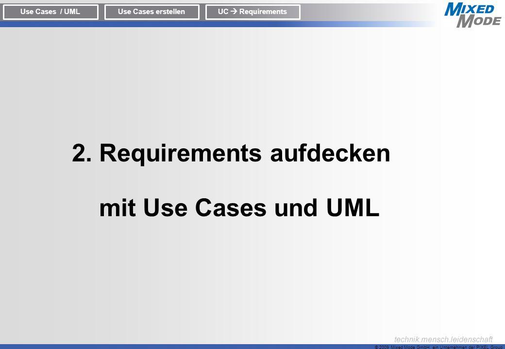 2. Requirements aufdecken mit Use Cases und UML