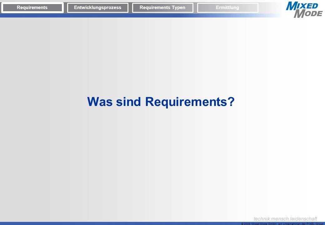 Was sind Requirements Requirements Entwicklungsprozess