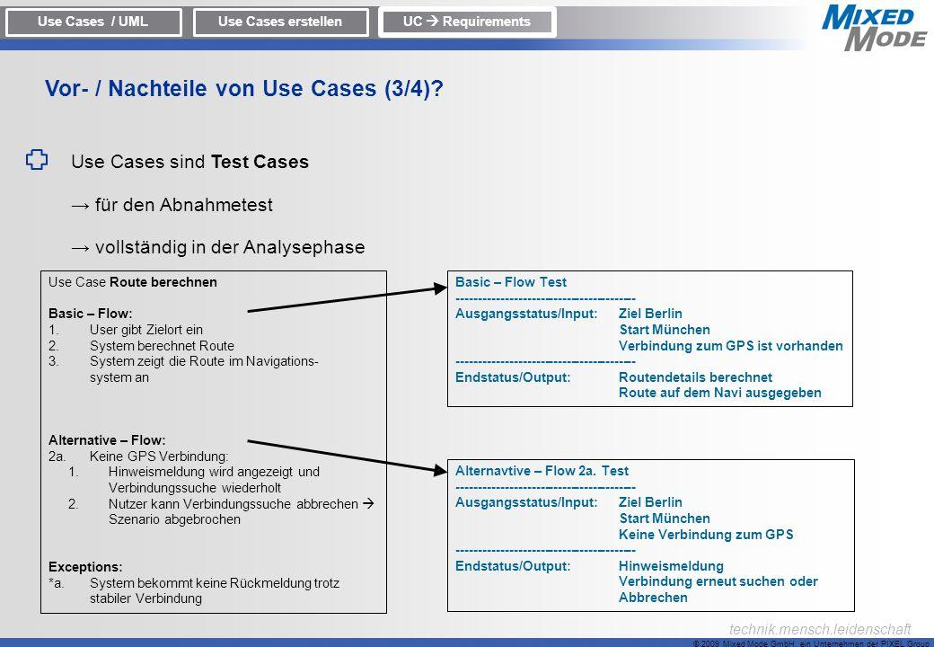 Vor- / Nachteile von Use Cases (3/4)