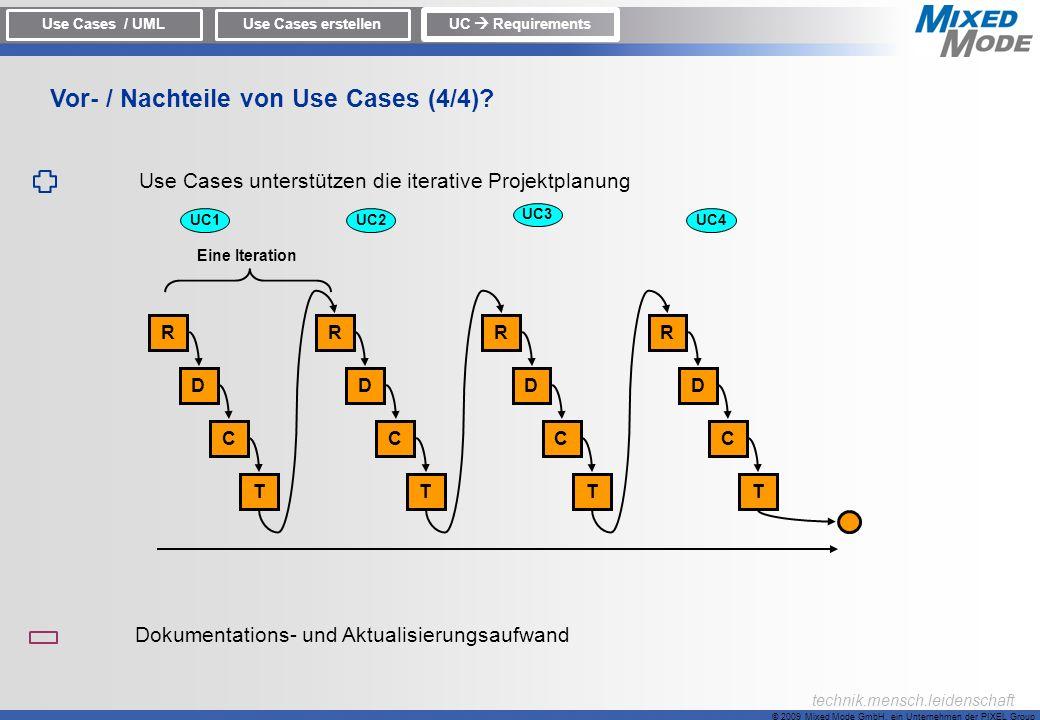 Vor- / Nachteile von Use Cases (4/4)