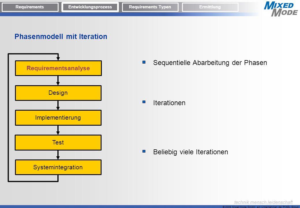 Phasenmodell mit Iteration