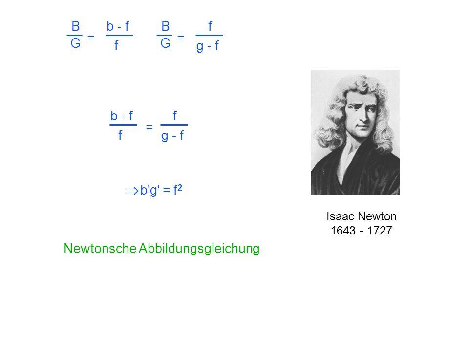 Newtonsche Abbildungsgleichung