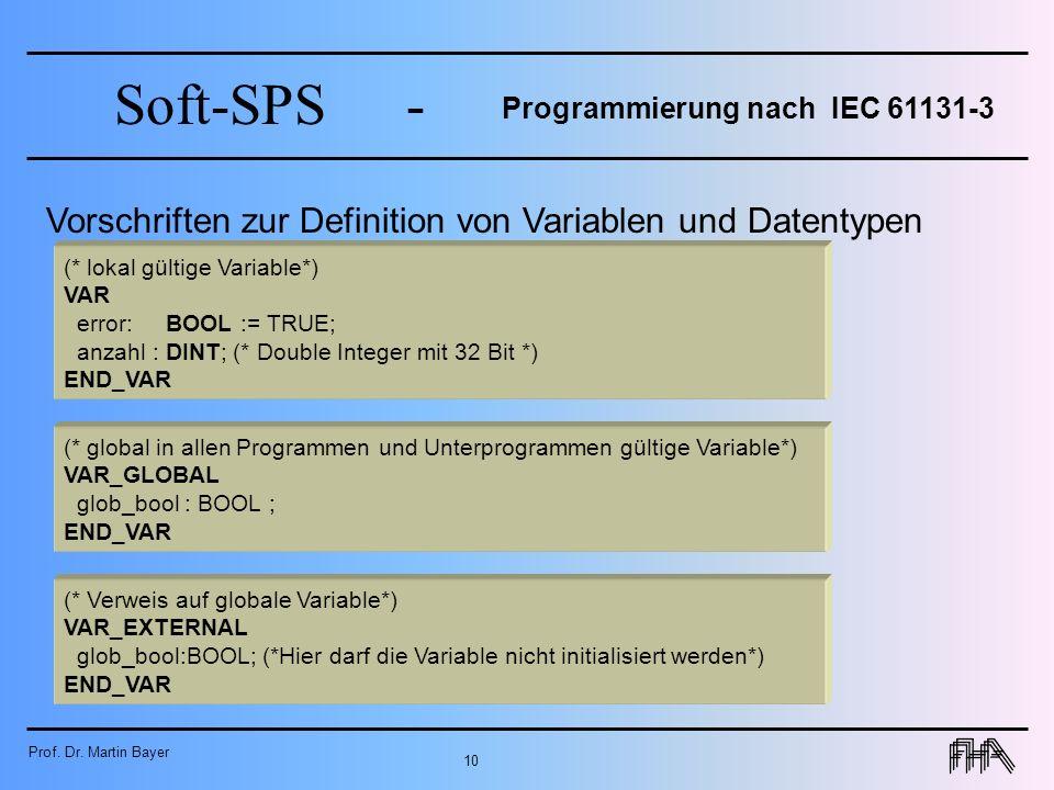 Programmierung nach IEC 61131-3