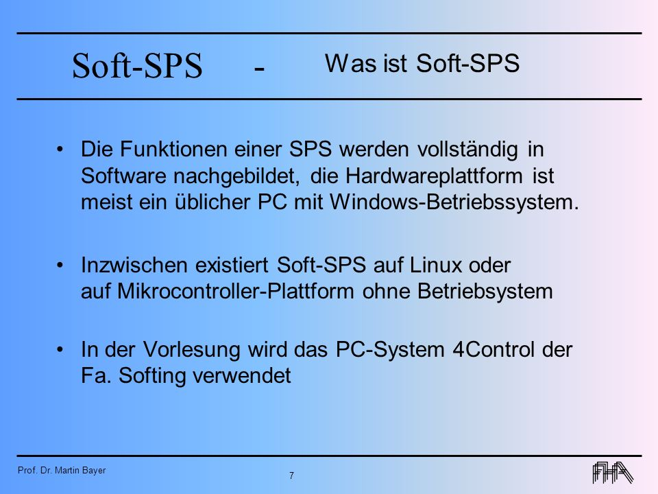 Was ist Soft-SPS