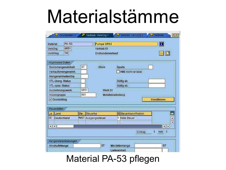 Materialstämme Material PA-53 pflegen