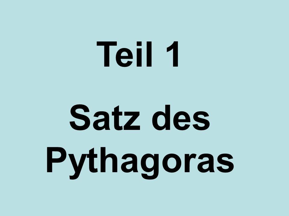 Teil 1 Satz des Pythagoras