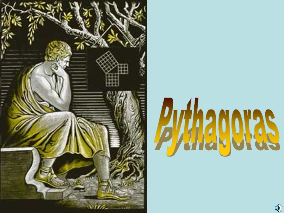 Pythagoras Titelfolie zum Leben von Pythagoras mit Musik unterlegt.