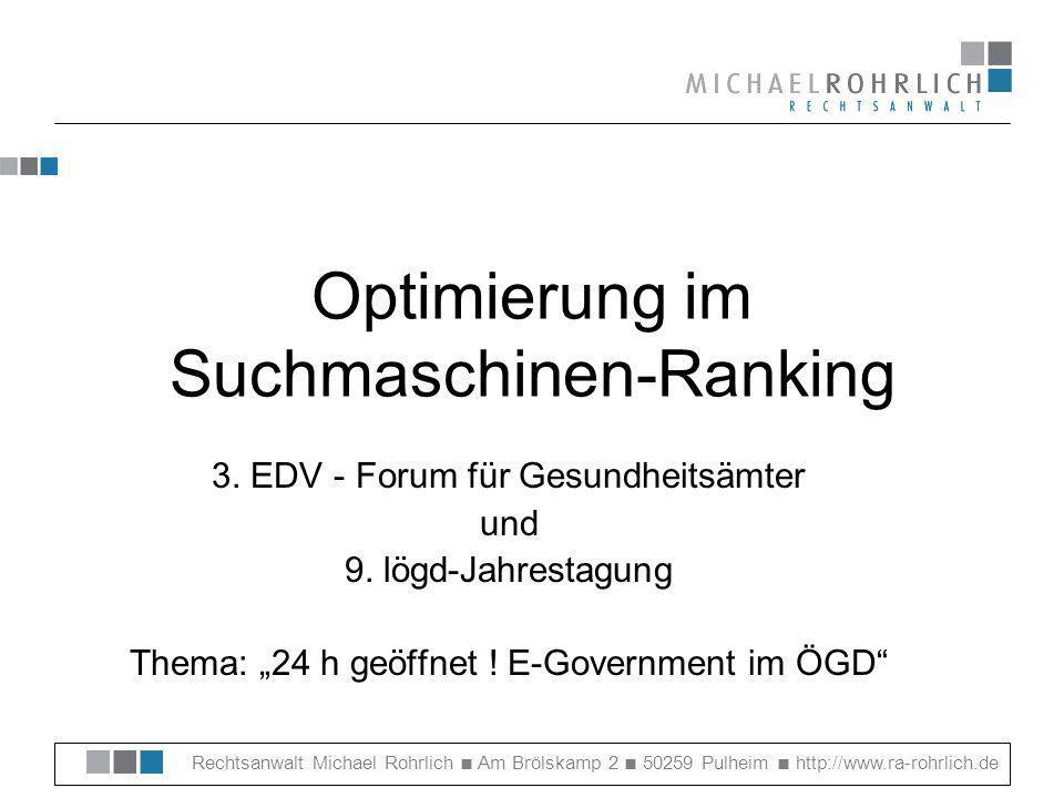 Optimierung im Suchmaschinen-Ranking