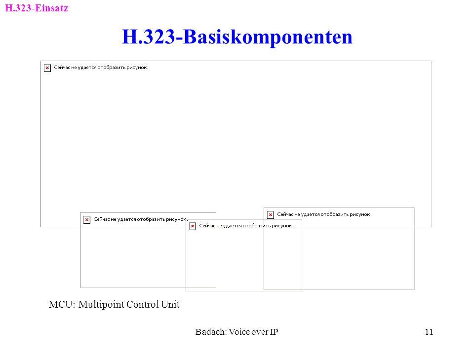 H.323-Basiskomponenten H.323-Einsatz MCU: Multipoint Control Unit