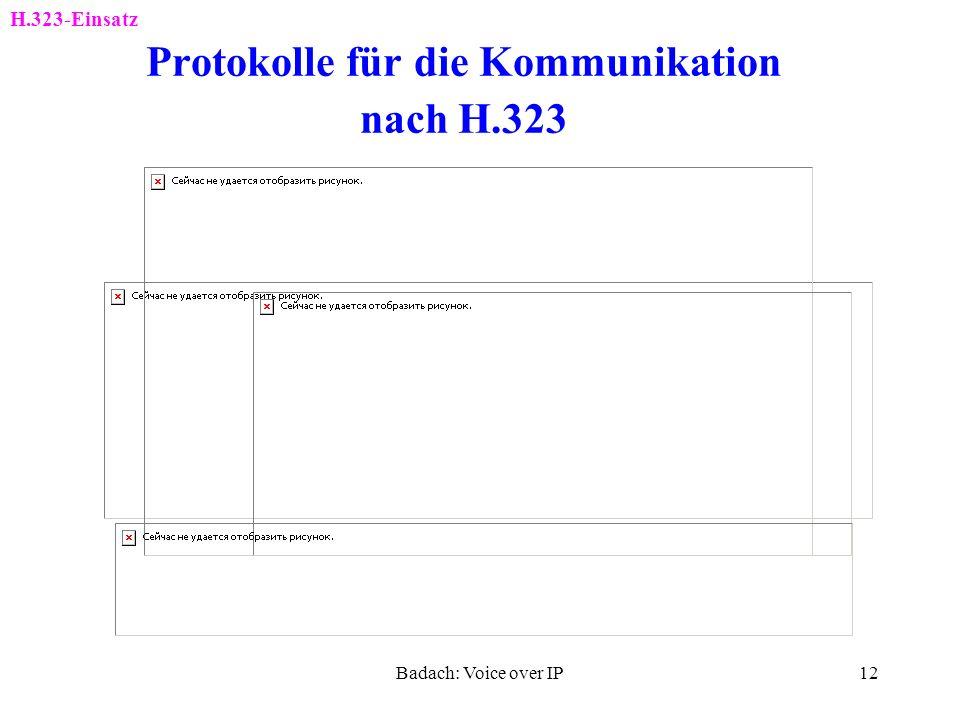 Protokolle für die Kommunikation nach H.323