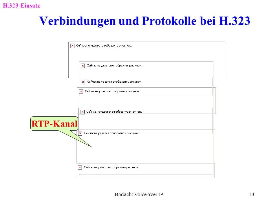 Verbindungen und Protokolle bei H.323