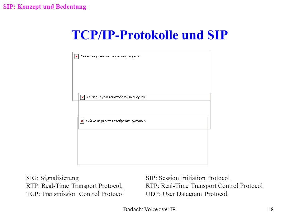 TCP/IP-Protokolle und SIP