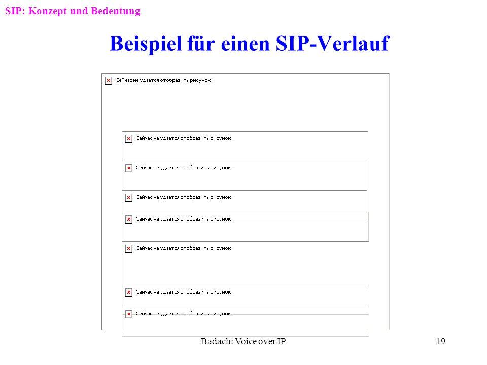 Beispiel für einen SIP-Verlauf