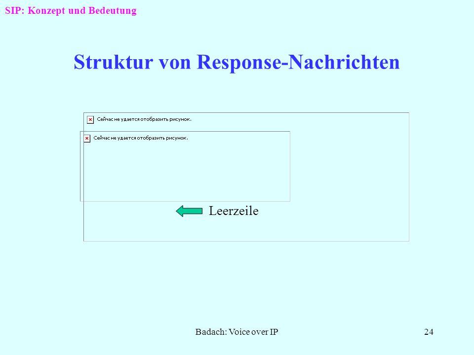 Struktur von Response-Nachrichten