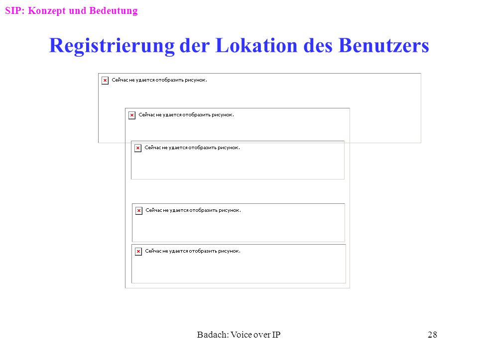 Registrierung der Lokation des Benutzers