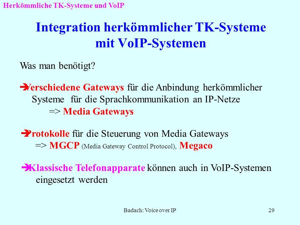 Integration herkömmlicher TK-Systeme mit VoIP-Systemen
