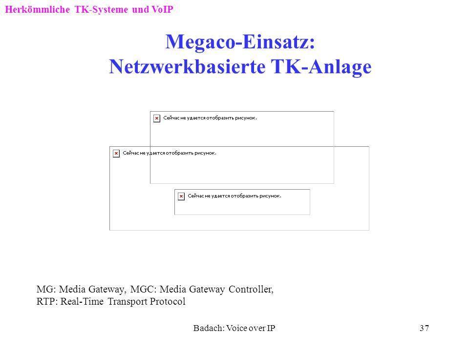 Megaco-Einsatz: Netzwerkbasierte TK-Anlage