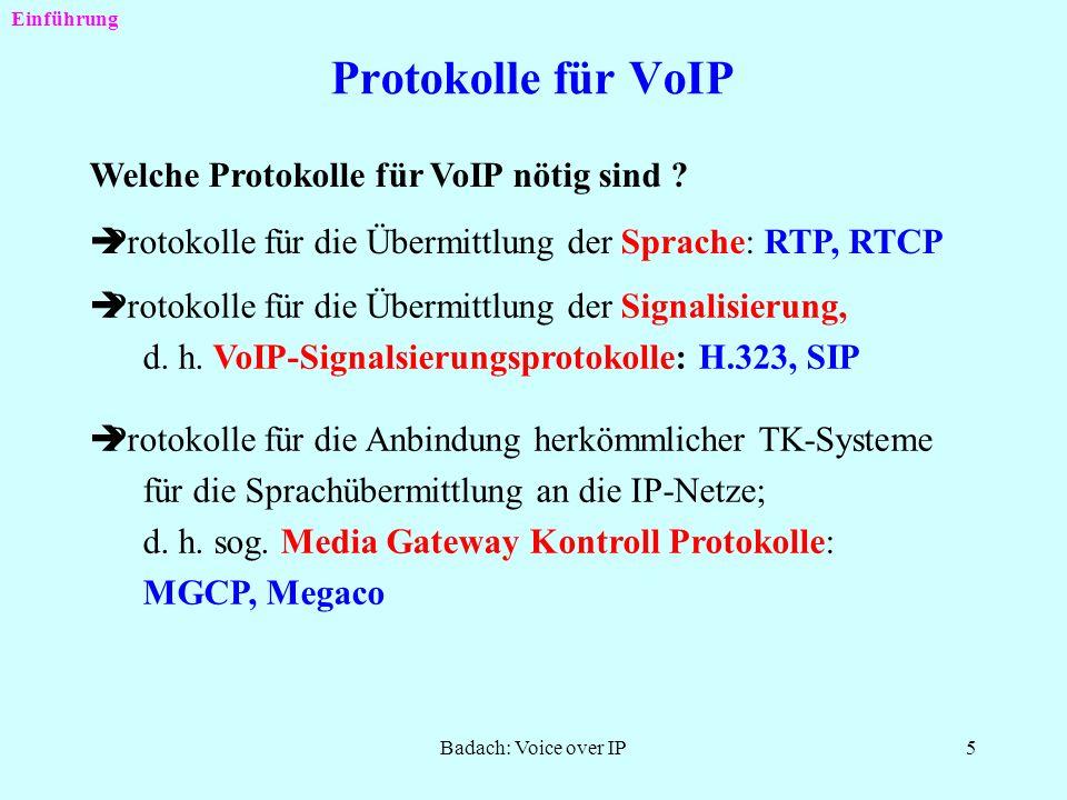 Protokolle für VoIP Welche Protokolle für VoIP nötig sind