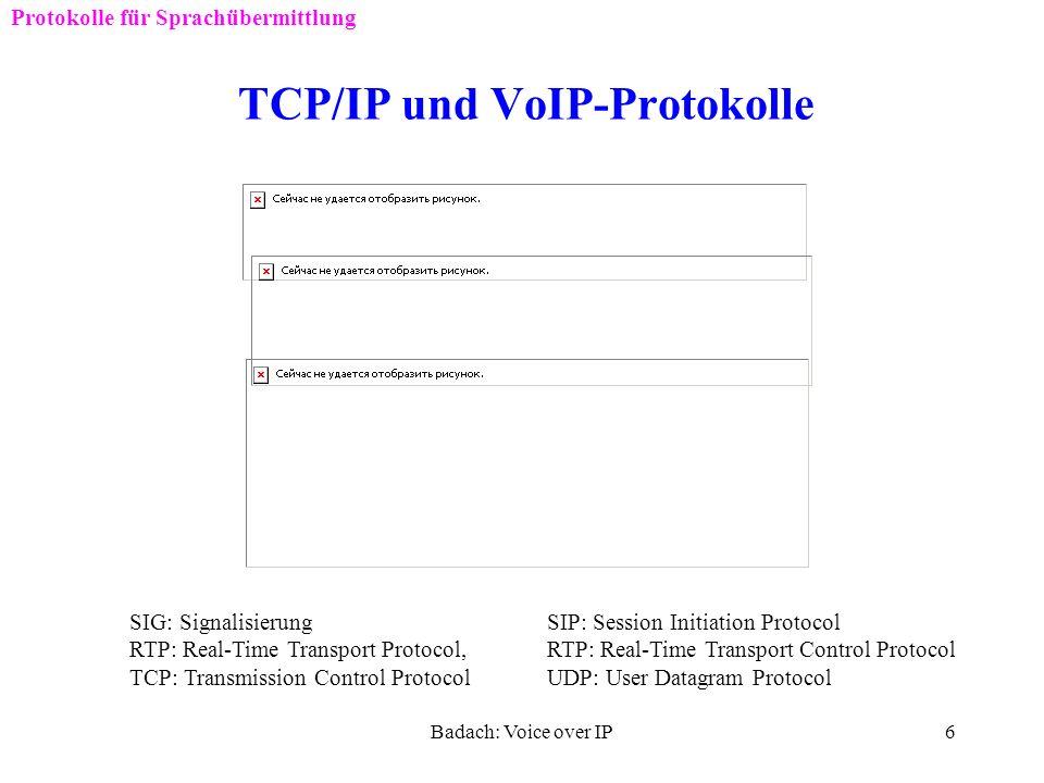 TCP/IP und VoIP-Protokolle
