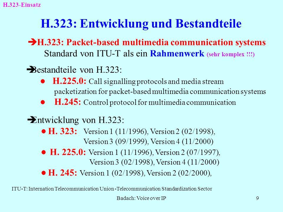 H.323: Entwicklung und Bestandteile
