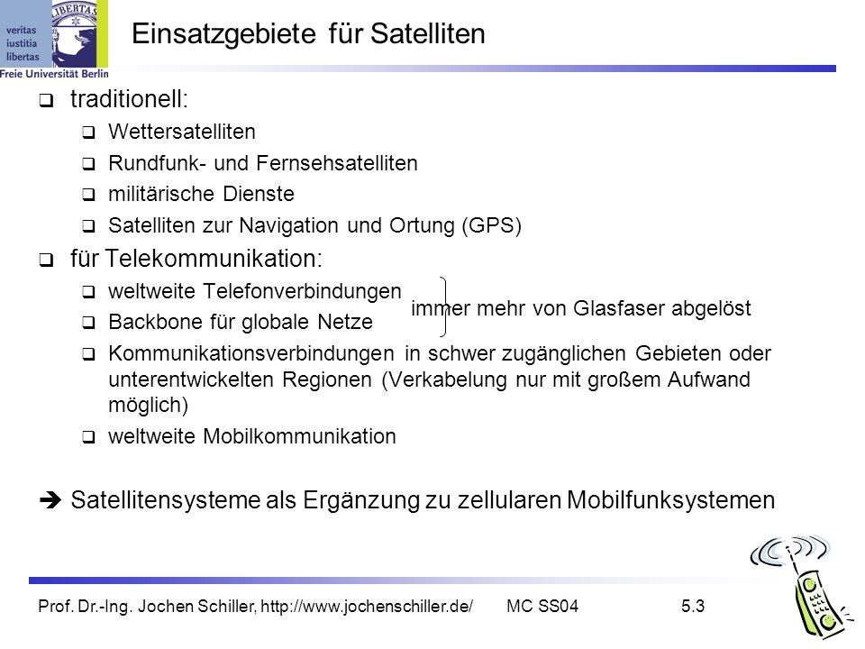 Einsatzgebiete für Satelliten
